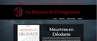 Le site officiel est enfin là !; au repaire de l'imaginaire; site internet; auteure; illustratrice; conseil; photomontage; delf in; wix;