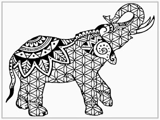 African Elephant Coloring Pages Adult