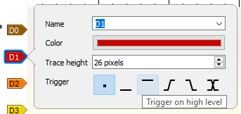 Modificare linie semnal și setare declanșatori