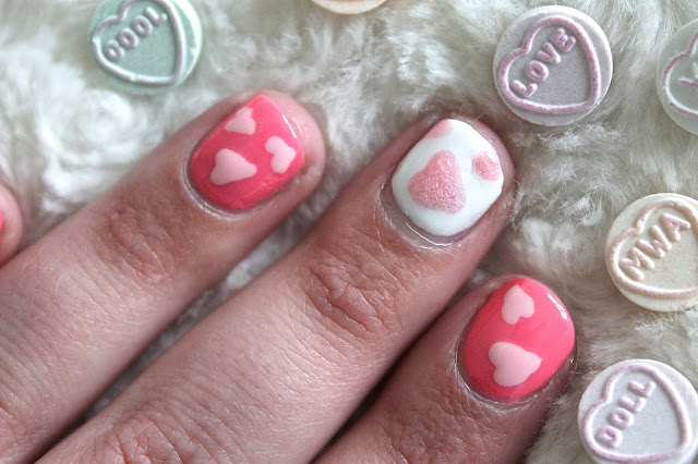 Valentines Day Inspired Nail Art