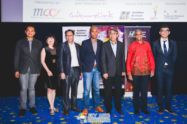 Yeo Whee Jim (Director MCCY), Goh Ching Lee (Artistic Director/Producer CultureLink), David (CultureLink),SanifOlek (Director of SayangDisayang), Irving Chee (GM, GSC) HE MrVanu Gopala Menon (SG High Commissioner and Royston Tan (Director of 7 Letters)