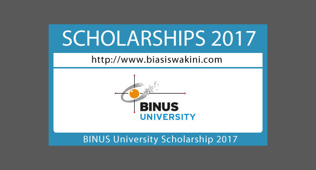 Binus University Scholarship 2017