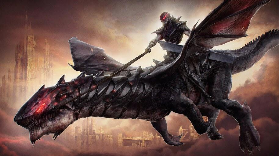 Fantasy, Dark Rider, Warrior, 4K, #4.1050
