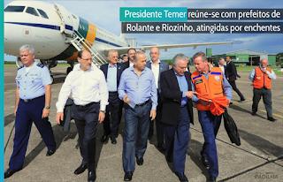Presidente Michel Temer reúne-se com prefeitos de Rolante e Riozinho, atingidas por enchentes