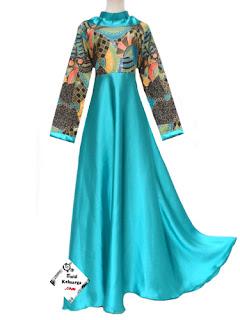 Long Dress Batik Kombinasi Sifon