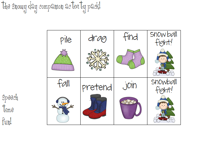 It is a picture of The Snowy Day Printable throughout winter 1st grade