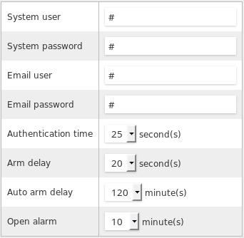 Open home security - your Arduino burglar alarm: Gateway configuration