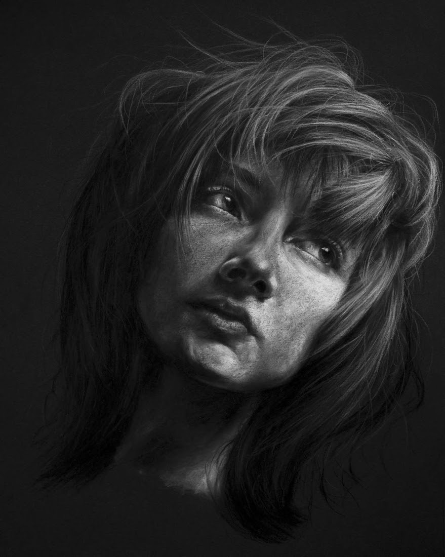 06-Hope-Krystan-Grace-Humans-and-Dogs-Charcoal-Portrait-Drawings-www-designstack-co