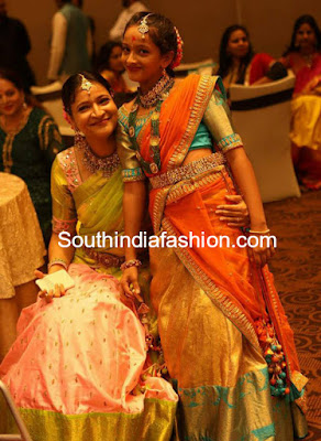 manjula-ghattamaneni-daughter-half-saree-function