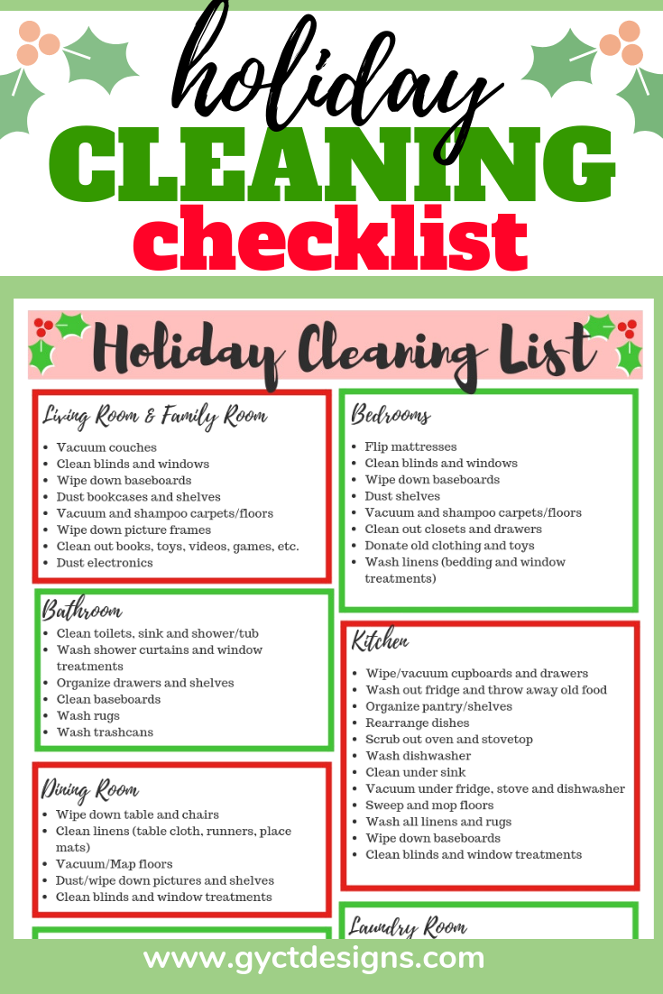 So The First Task At Hand Was To Get The House Ready. Thatu0027s When I Came Up  With This Holiday Cleaning Checklist.
