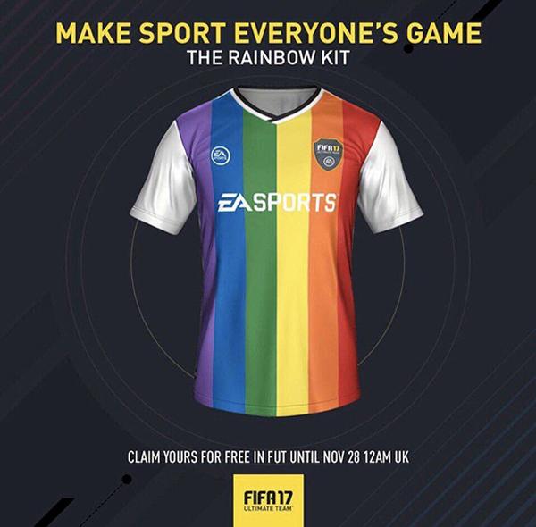 Obriga a EA Sports readaptar sua qualificação por idades por sua adesão a campanha #RainbowLaces.