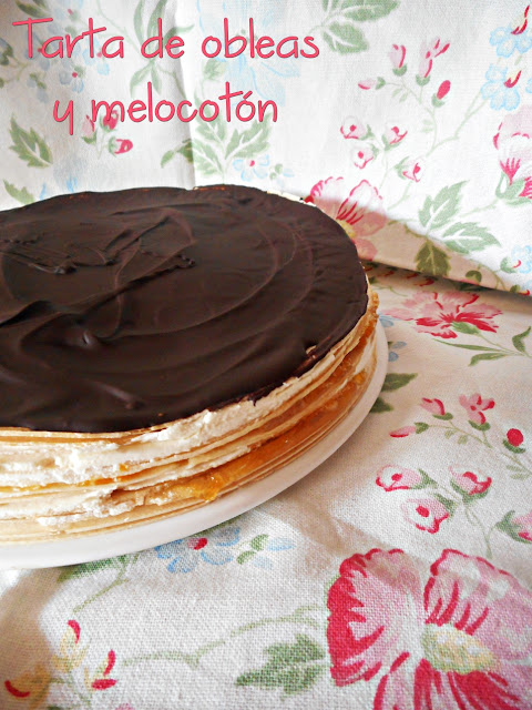 peaches-tart, tarta-de-obleas-y-melocoton