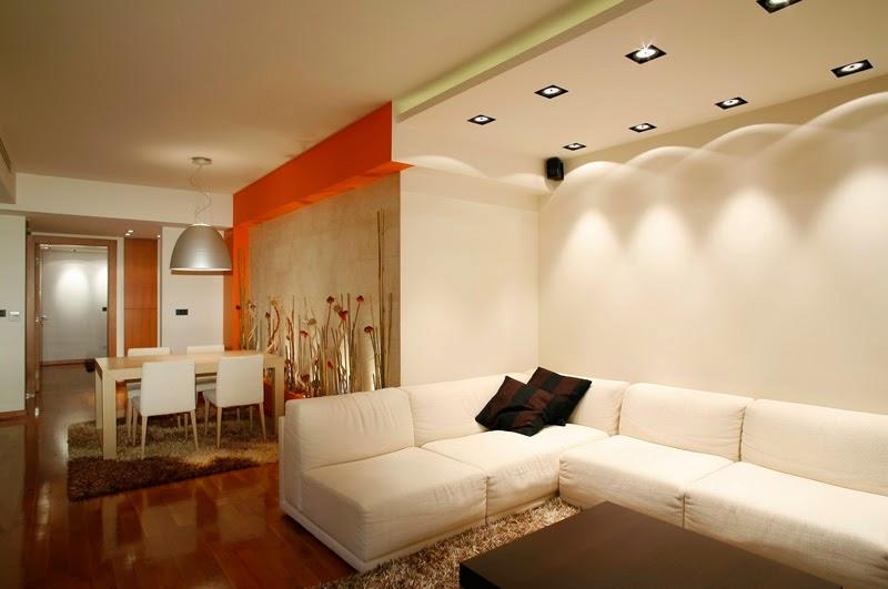 10 unique false ceiling designs made of gypsum board - False wall designs in living room ...