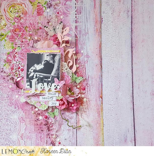 Inspiruje Kareen: różowy i niebieski - Inspirations from Kareen: pink and blue