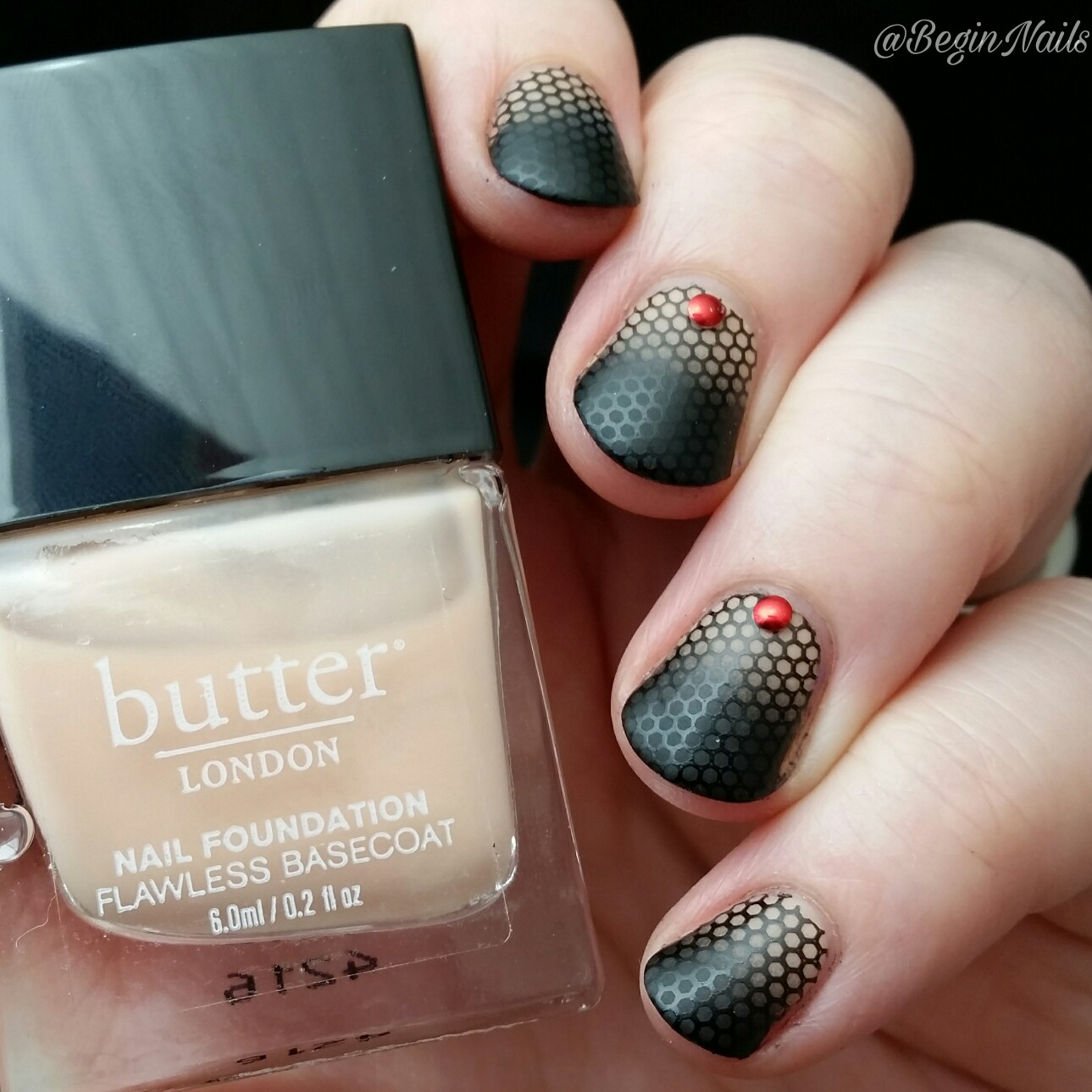Let\'s Begin Nails: Digit-al Dozen: Vampy Gradient With Stamping
