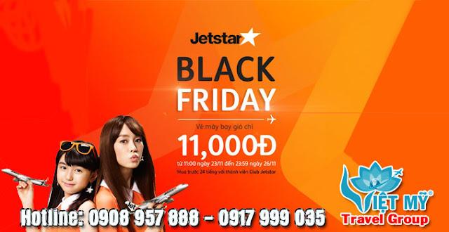 Khuyến mãi Black Friday jetstar chỉ từ 11k