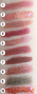 Nude & Brown Lipstick Swatches | 31 Days of Lipstick via Crappy Candle