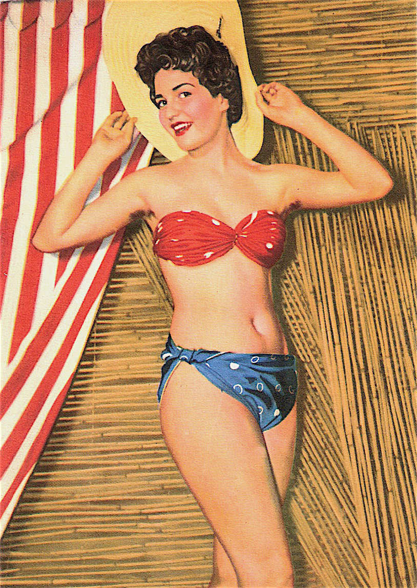 Vintage chris noel sexy bikini swimsuit pinup beach bal