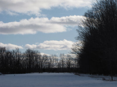 winter clouds and blue sky