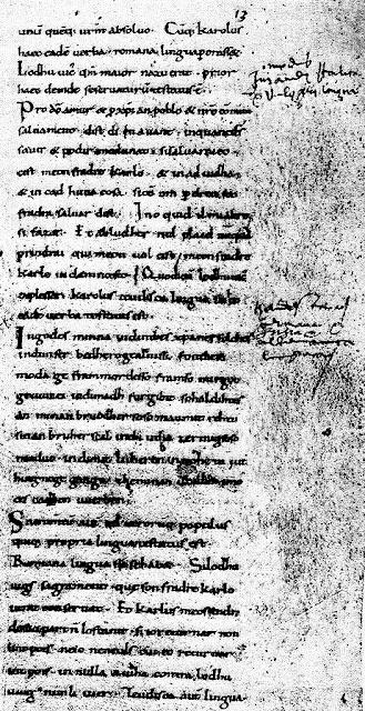 el francés nace el 14 de febrero del 842, con la prosa de los Juramentos de Estrasburgo;