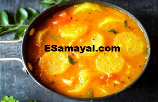 வாழைத்தண்டு முள்ளங்கி சாம்பார் செய்முறை / Banana Mushroom Sambar Recipe !