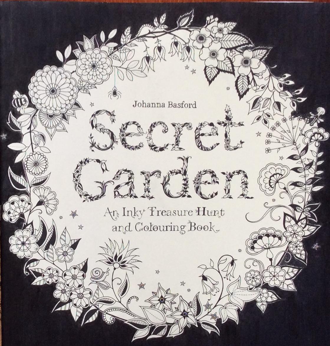 Secret garden colouring in book nz - Step 5