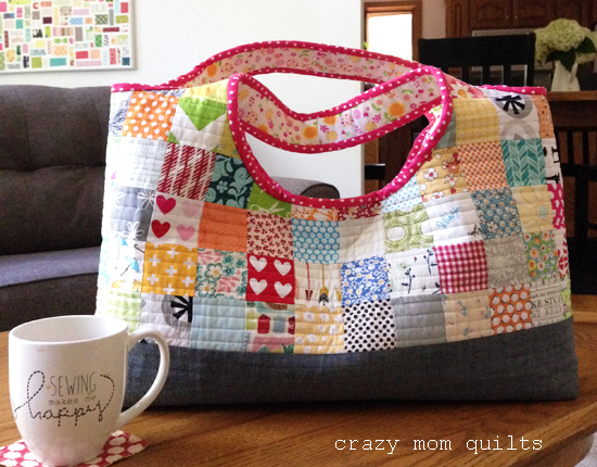 crazy mom quilts: a tinker tote : quilting tote - Adamdwight.com