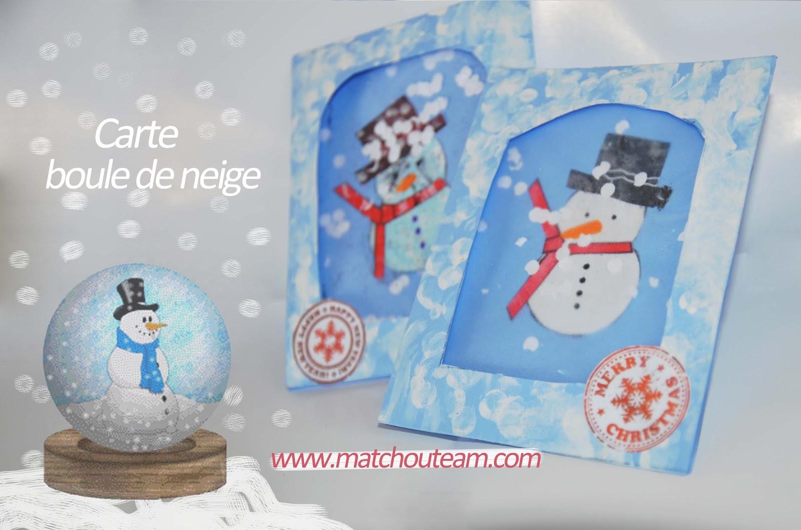 ma tchou team carte effet boule de neige pour la fin d 39 ann e. Black Bedroom Furniture Sets. Home Design Ideas
