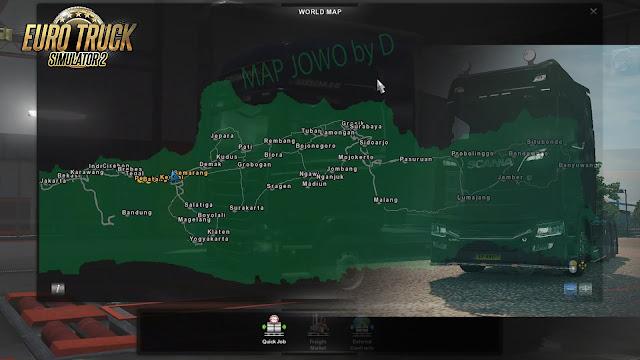 Map Jowo v 7.2 Euro Truck Simulator 2 versi 1.30