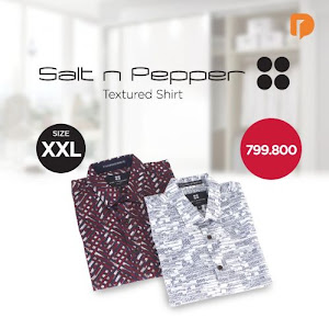 Salt N Pepper Textured Shirt Size XXL (Set of 2)