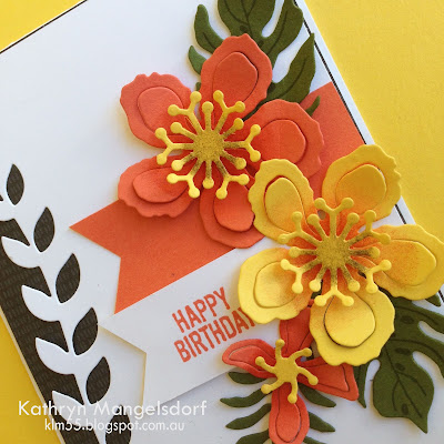 Stampin' Up! Botanical Blooms, Botanical Builder Framelits Dies & Botanical Gardens Designer Series Paper created by Kathryn Mangelsdorf