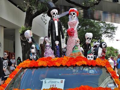 Angleton Jr High entry at Houston Art Car Parade