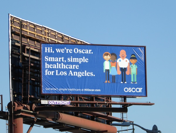 Oscar Smart simple LA healthcare billboard