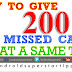 HOW TO GIVE 200 MISSED CALL TUTORIAL | ANDROID TAMIL