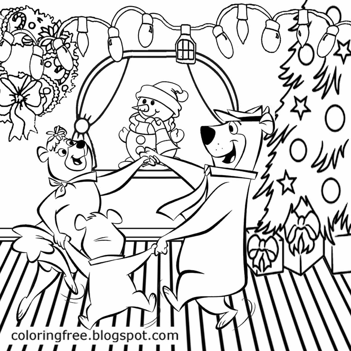 Yogi Bear Coloring Pages Us Campground Kids Cartoon Characters - Kids-coloring-pictures