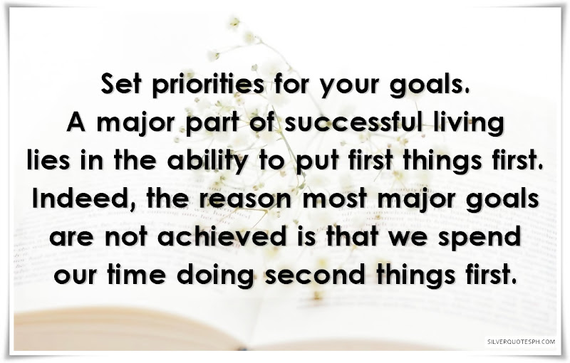 Set Priorities For Your Goals