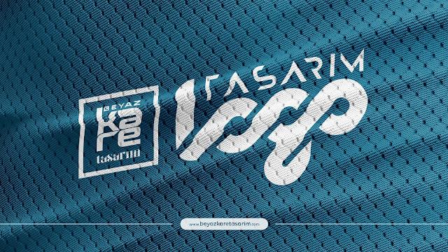 3D logo tasarımı delikli kumaş