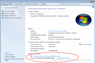 Cara Aktivasi Windows 7 ( Mengatasi Copy of Windows is Not Genuine ) - www.aciltips.com