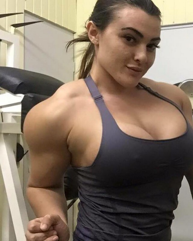 Extremely hot muscle woman oiled amp anal fucked 6
