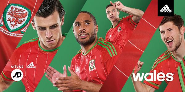 6eb40032a ... parts of the new Adidas Wales 2015 Home and Away Strips in early  October. Wales wore the new Adidas Away Kit against Belgium on November 16,  2014.