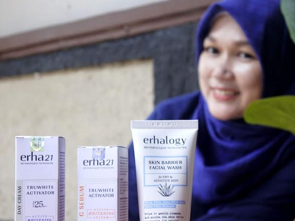 Wajah Cerah dan Terlindung dengan Skin Barrier Facial Wash dan ERHA Truwhite Activator Series
