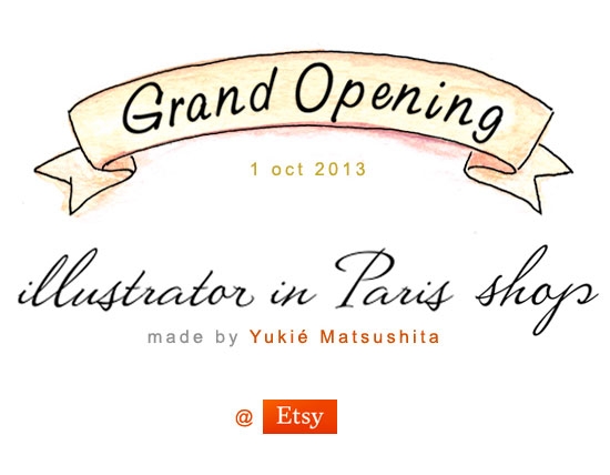 Grand Opening illustrator in Paris Shop at Etsy.com