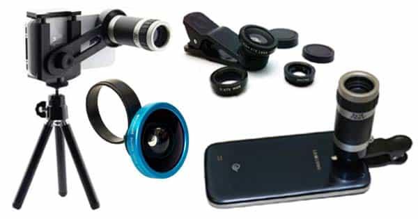 lensa kamera smartphone, lensa tambahan smartphone, jenis lensa kamera