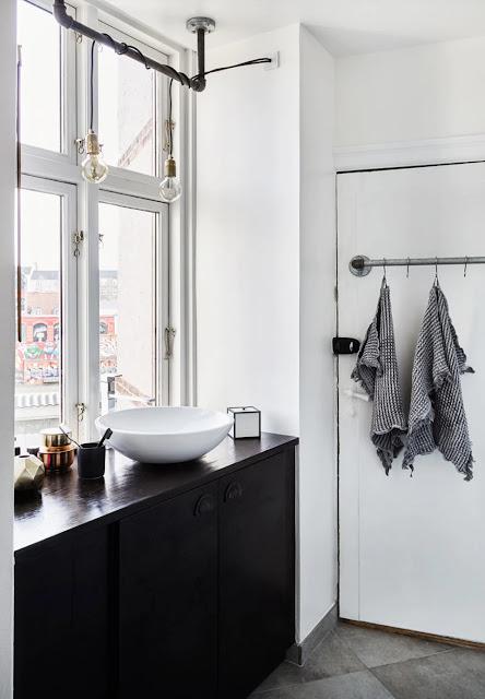 Copenhague / Appartement de 54m² au look industriel /