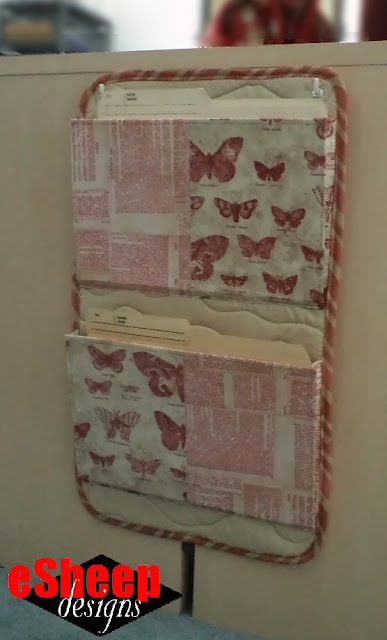 Hanging File Organizer crafted by eSheep Designs