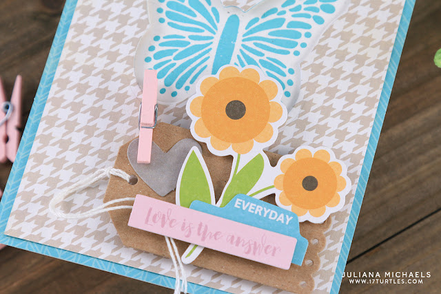 Detail photo of Follow Your Dreams Butterfly Card by Juliana Michaels featuring Jillibean Soup Spoonful of Soul