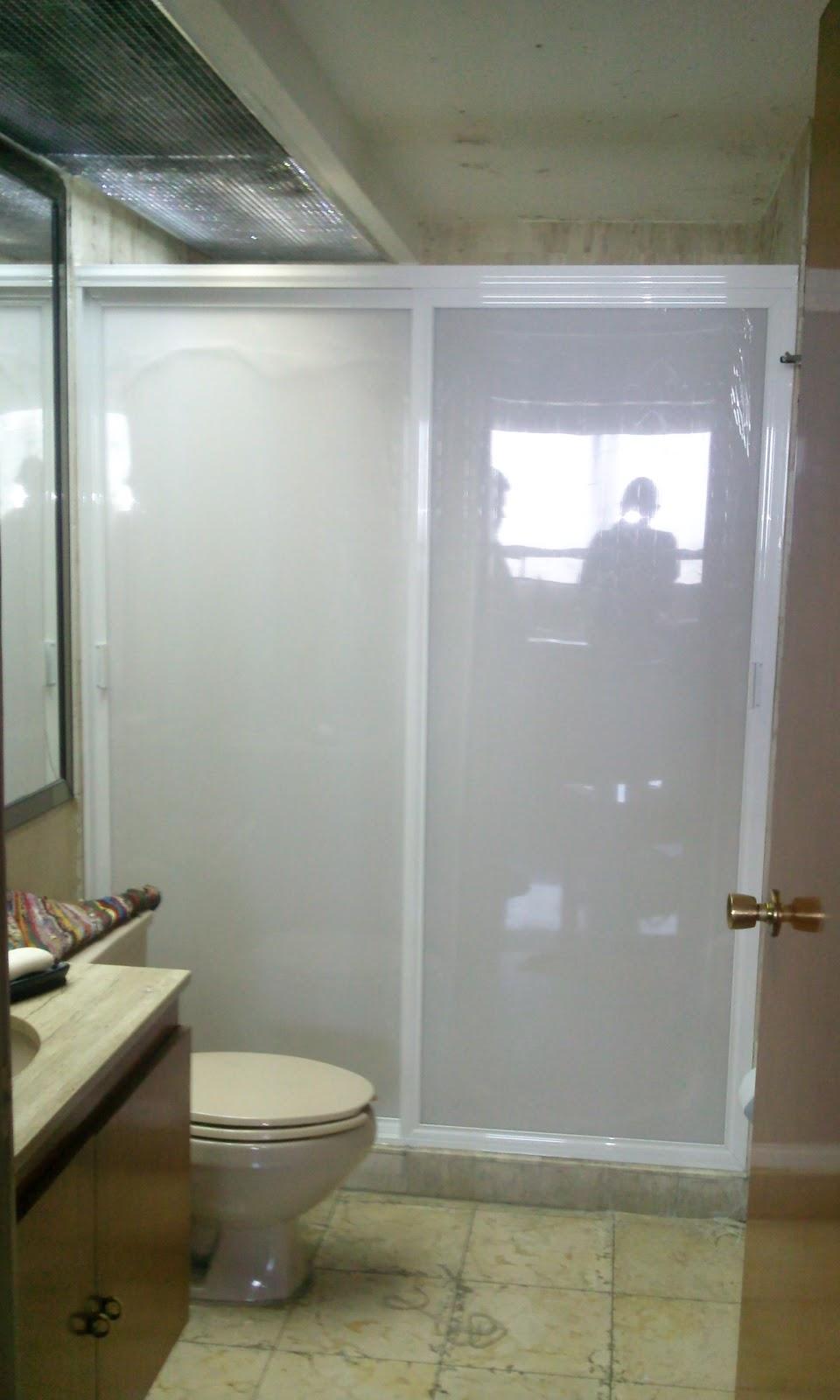 Vidrier a palo solo canceles para ba o cristal templado - Puerta de cristal abatible ...