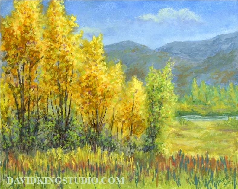 art painting landscape nature autumn fall foliage acrylic