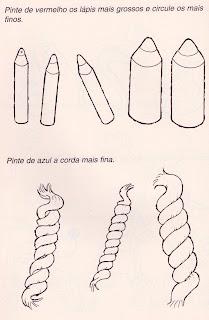 lápis na mão