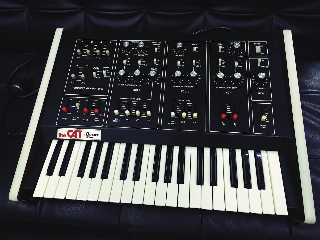 Matrixsynth vintage analog octave plateau the cat srm 1 synthesizer for Yamaha 3 octave keyboard